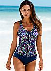 LASCANA Blue Print Swimsuit