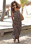 LASCANA Brown Print Maxi Dress