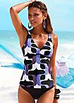 s.Oliver Purple Vintage Underwired Tankini