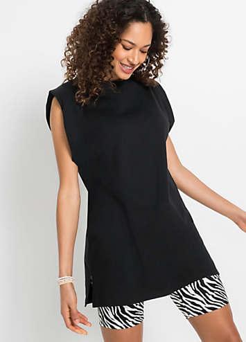 black white side insert swimsuit by bpc bonprix. Black Bedroom Furniture Sets. Home Design Ideas