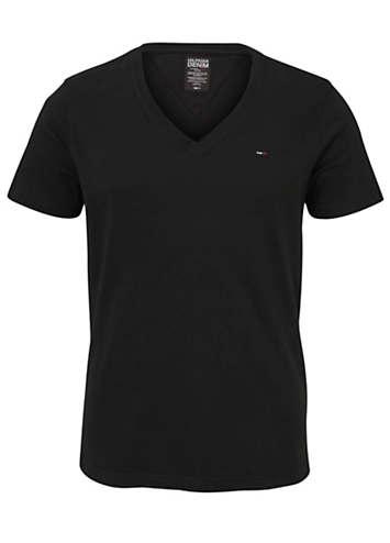 black v neck t shirt by tommy hilfiger swimwear365. Black Bedroom Furniture Sets. Home Design Ideas