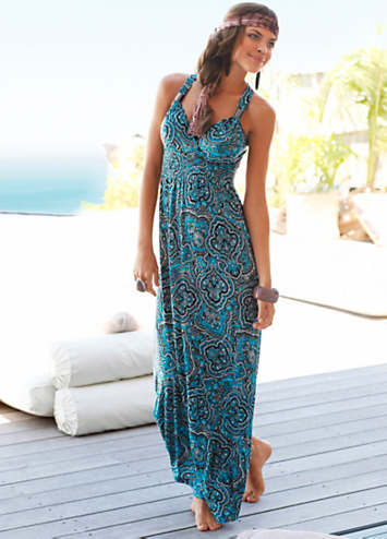 LASCANA Turquoise Ring-Strap Maxi Beach Dress