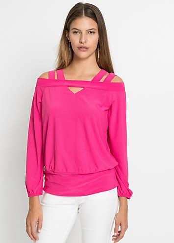 pink ruched bandeau tankini top by bonprix swimwear365. Black Bedroom Furniture Sets. Home Design Ideas