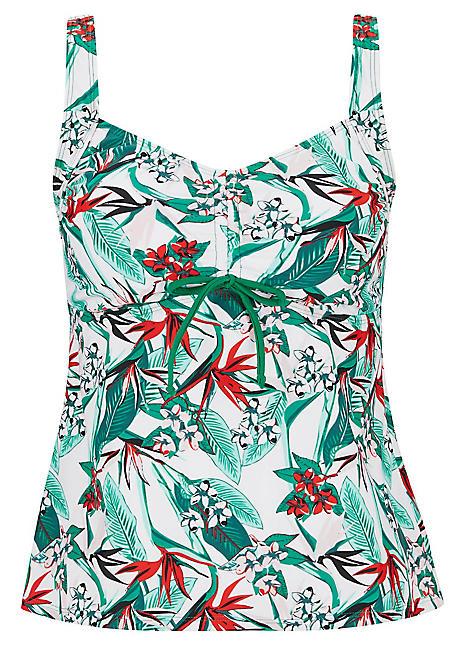 bpc bonprix collection girls blue contrast panel swimsuit. Black Bedroom Furniture Sets. Home Design Ideas