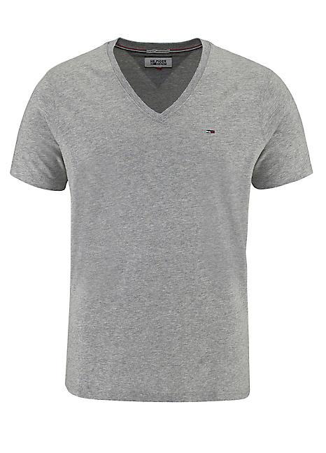 grey marl v neck t shirt by tommy hilfiger swimwear365. Black Bedroom Furniture Sets. Home Design Ideas
