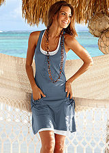 Beachtime Blue Layered Beach Dress