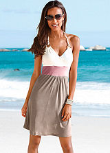 Beachtime Khaki Beach Dress