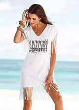 Beachtime White Fringe Tunic