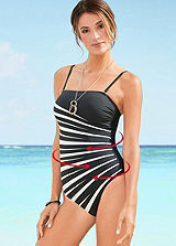 Black Zebra Print Shaping Swimsuit