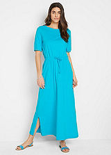 Blue Halter Neck Dress