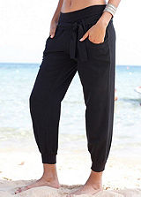 Buffalo London Black Beach Trousers