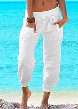 Buffalo London White Beach Trousers