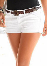 Buffalo London White Denim Hotpants