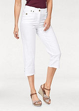 Cheer White Cropped Trousers