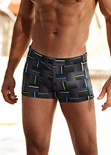 Chiemsee Black Print Boxer Swimming Shorts