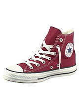 Converse Burgundy All Star Hi Top Trainers