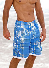 H.I.S Blue Tropical Swimming Shorts