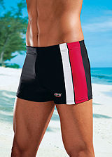 H.I.S Red Boxer Style Swimming Shorts
