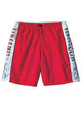 H.I.S Red Long Swimming Shorts