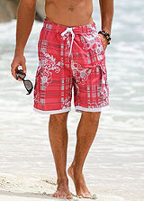 H.I.S Red Tropical Swimming Shorts