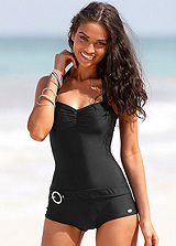 KangaROOS Black Belted Boyleg Swimsuit