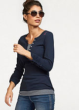 KangaROOS Navy Layered Effect Top