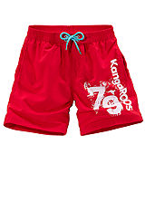 KangaROOS Red Logo Print Swimming Shorts