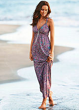 LASCANA Berry Ring-Strap Beach Maxi Dress