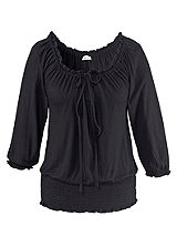 LASCANA Black Gypsy Top