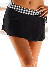 LASCANA Black Mini Skirt Briefs