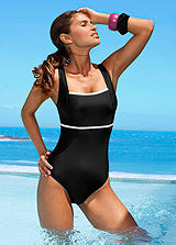 LASCANA Black Slim Trim Swimsuit