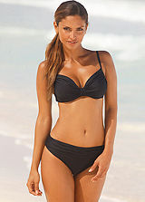 LASCANA Black Underwired Pleated Bikini
