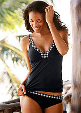 LASCANA Black Underwired Tankini