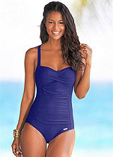 LASCANA Blue Ripple Swimsuit