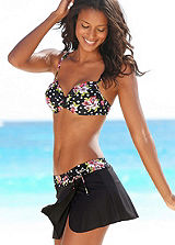 LASCANA Floral Swim Skirt With Briefs