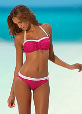 LASCANA Pink Underwired Bandeau Bikini