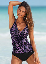 LASCANA Purple Exotic Underwired Tankini