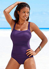 LASCANA Purple Ripple Effect Swimsuit