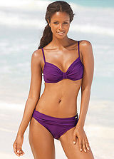 LASCANA Purple Underwired Pleated Bikini