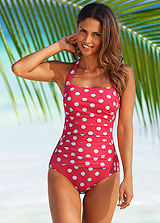 LASCANA Red Polka Dot Swimsuit