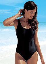 Lascana Black Control Swimsuit