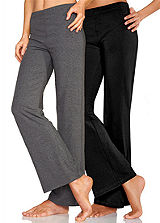 Pack of 2 Grey Marl &amp; Black Leggings