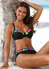 Sunflair Black Rainbow Trim Underwired Bikini