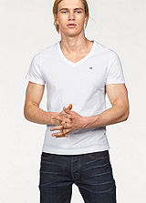 Tommy Hilfiger White V-Neck T-Shirt