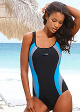 Venice Beach Black Curve Trim Swimsuit