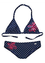 Venice Beach Flower & Polka Triangle Bikini