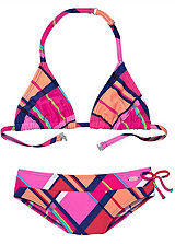 Venice Beach Pink Checked Triangle Bikini