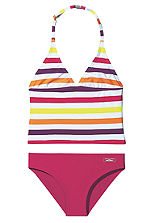 Venuce Beach Purple Striped Tankini