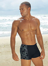 s.Oliver Black Boxer Style Swimming Shorts