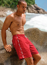 s.Oliver Red Long Swimming Shorts
